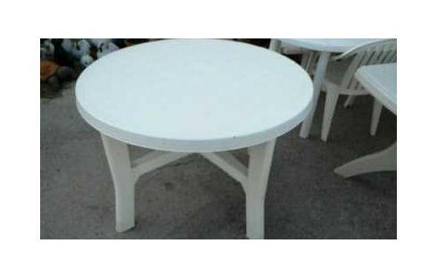 Achat TABLE DE JARDIN PLASTIQUE RONDE occasion - Marignane | Troc.com