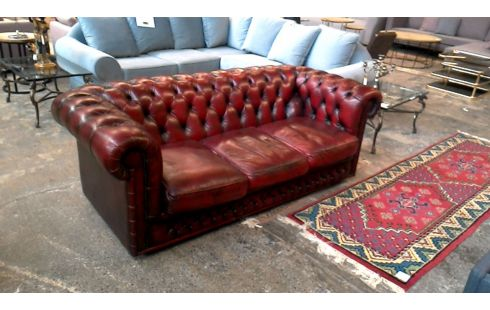 Canape 3 Places Cuir Chesterfield