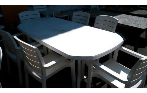 TABLE DE JARDIN PLASTIQUE BLANCHE